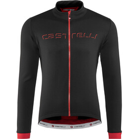 Castelli Fondo Full-Zip Jersey Herre black/red
